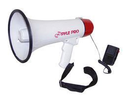 Megaphone / Bullhorn with Plug-in Handheld Mic Automatic Siren and Adjustable Volume Control