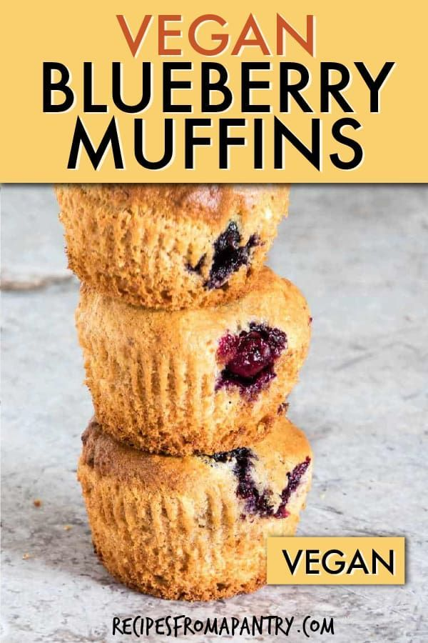 Easy Vegan Blueberry Muffins Are Sweet Soft And Filled