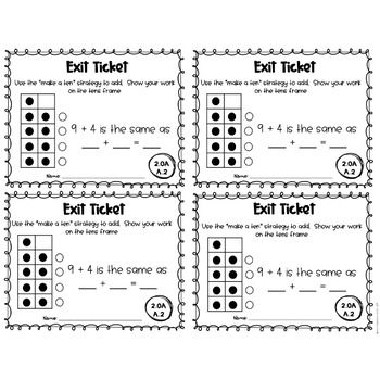 2nd Grade Common Core Exit Tickets: Operations and