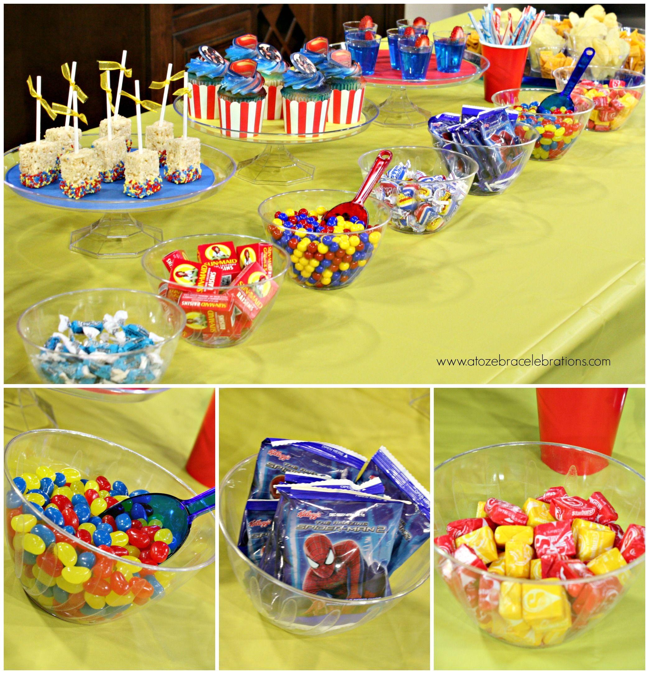 Superhero Desserts Table