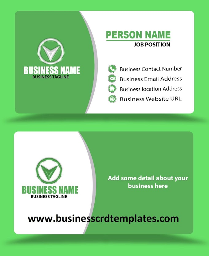 White Green Business Card Template Psd Eps File Format Free Download Business Card Template Psd Business Card Template Business Cards Creative Templates