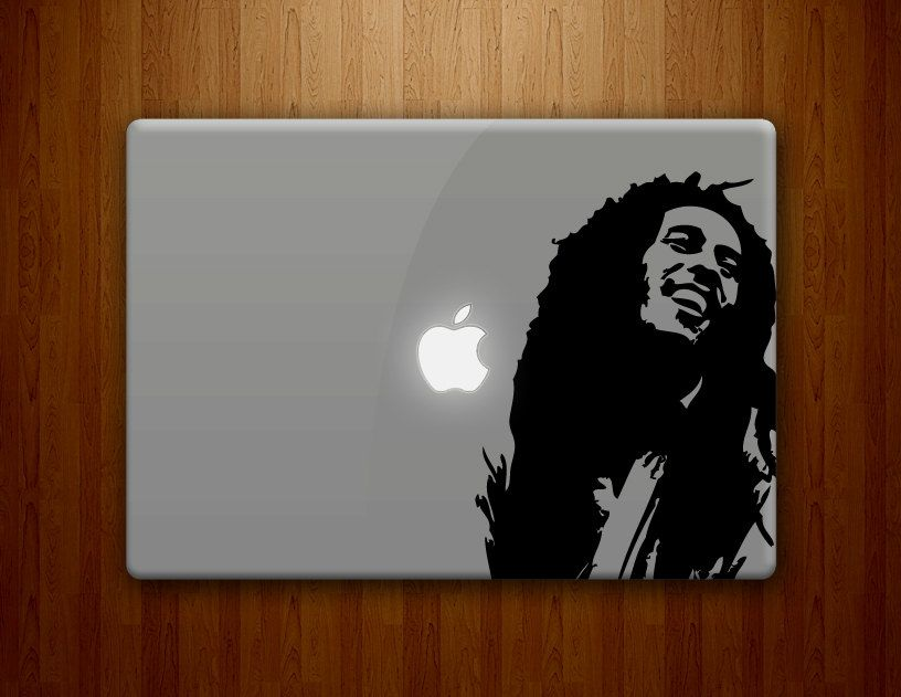 Bob marley macbook decal bob marley decal rastafarian jamaican reggae vinyl decal 15 95