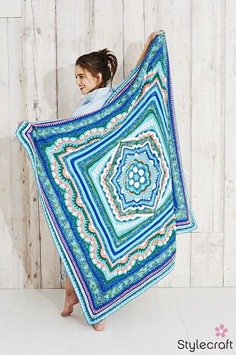 Cosmic Cal pattern by Helen Shrimpton | Baskets, Bags, Blankets and ...