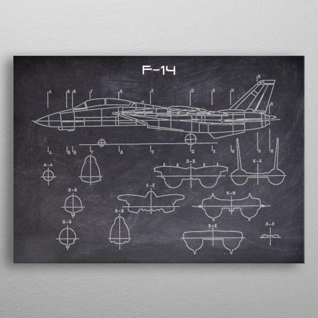 F14 by FARKI15 DESIGN | metal posters - Displate | Displate thumbnail