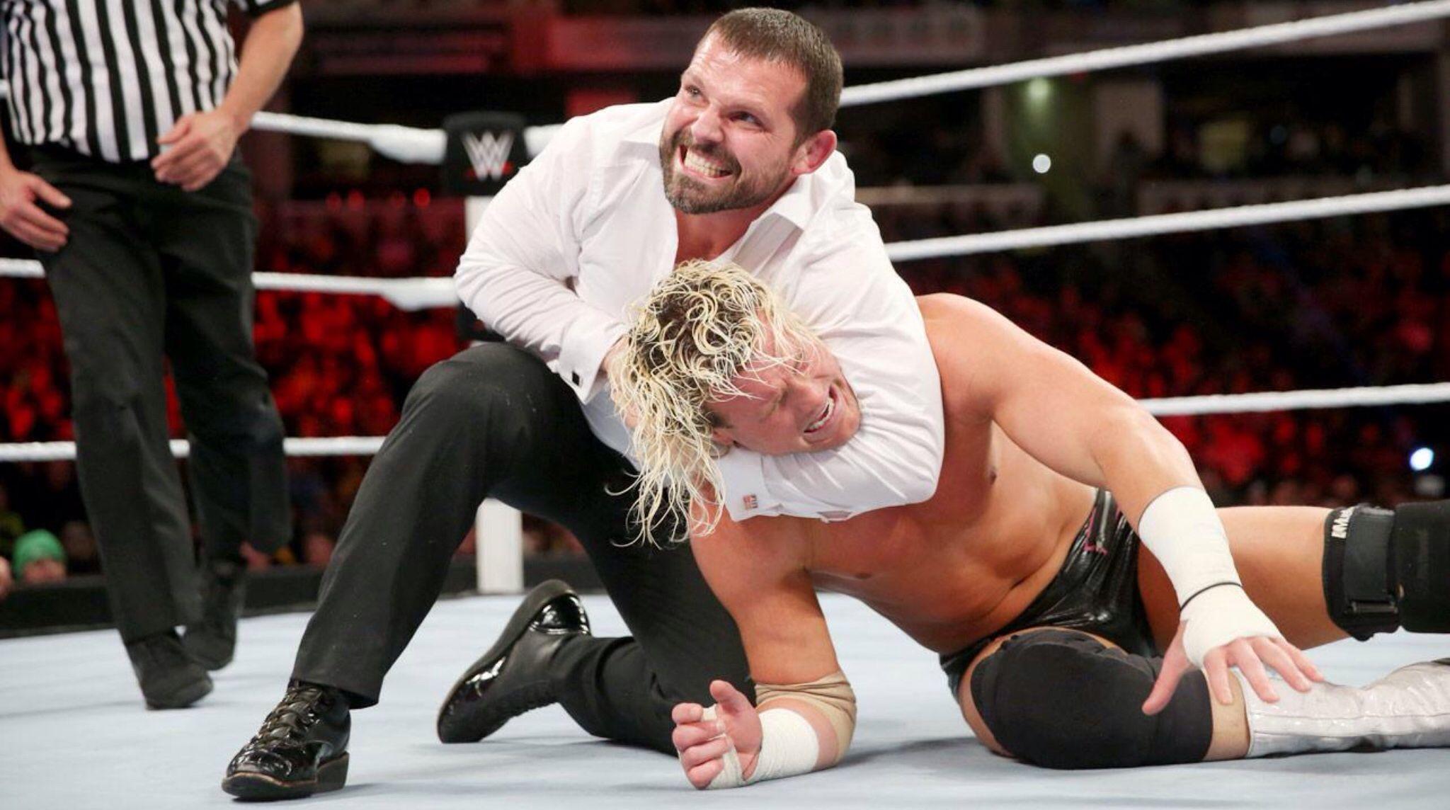 WWE John Cena & Dolph Ziggler vs Mr Money in the Bank Seth Rollins, Jamie Noble & Joey Mercury, 3-on-2 Handicap Match