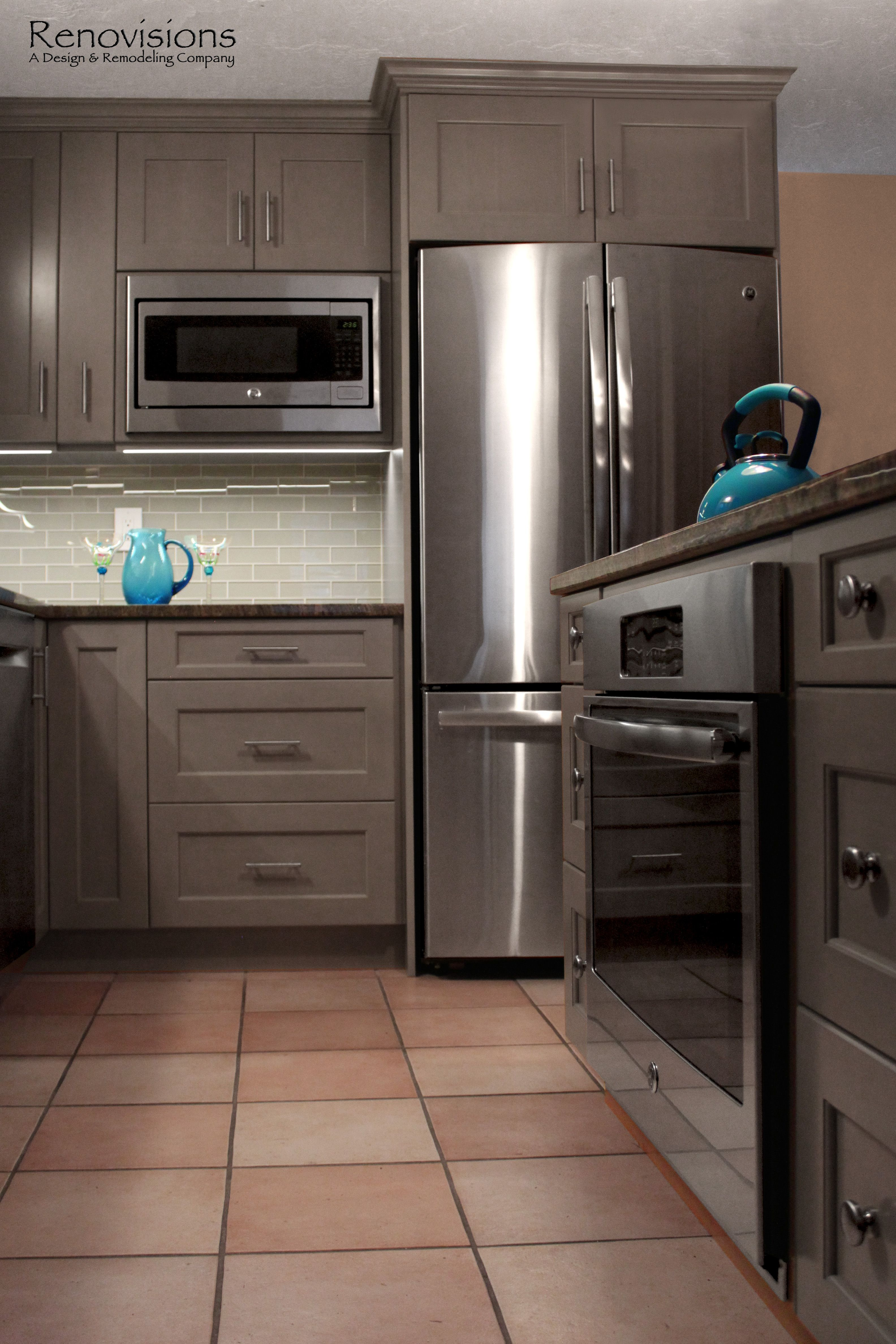 Best Kitchen Remodel By Renovisions Grey Cabinets Built In 640 x 480