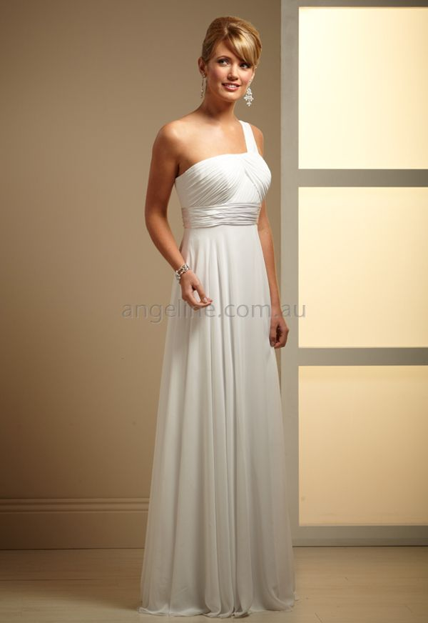 Trainless Wedding Gown