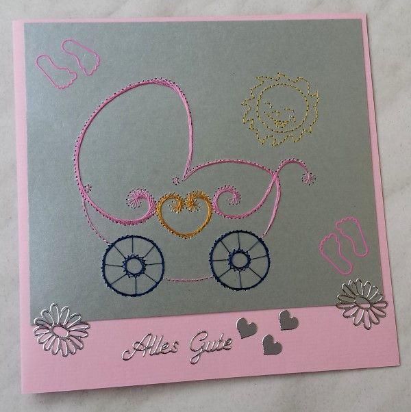 Babykarte zur Geburt der 2.Tochter meiner Nichte