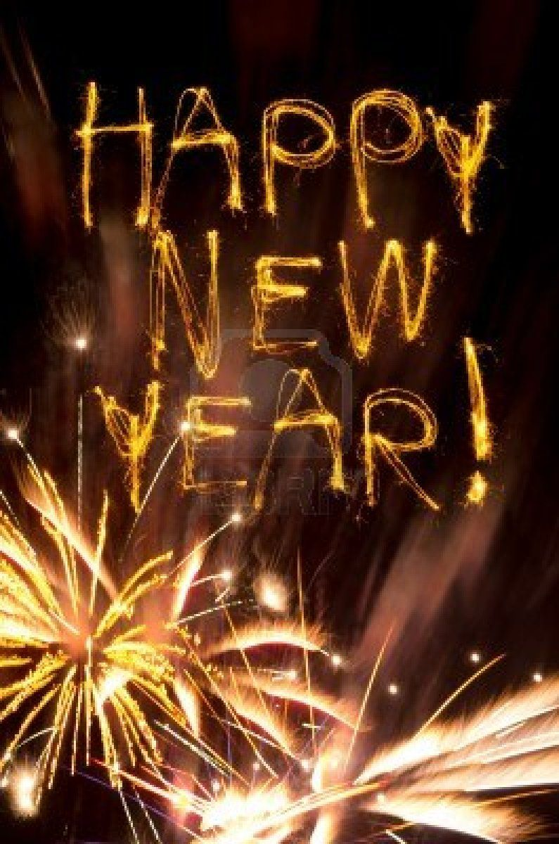 Sparklers Spell Happy New Year Above Gold Fireworks Burst Happy New Year Pictures Happy New Year 2019 Quotes About New Year