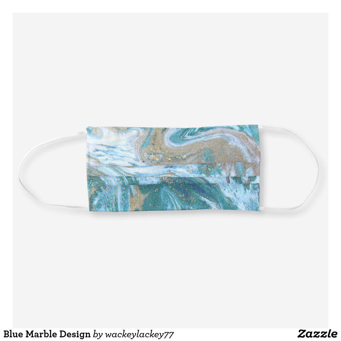Blue Marble Design Cloth Face Mask Zazzle Com In 2020 Face Mask Blue Marble Marble Design