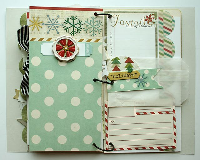 Homespun with Heart: a start on a December Daily mini album...