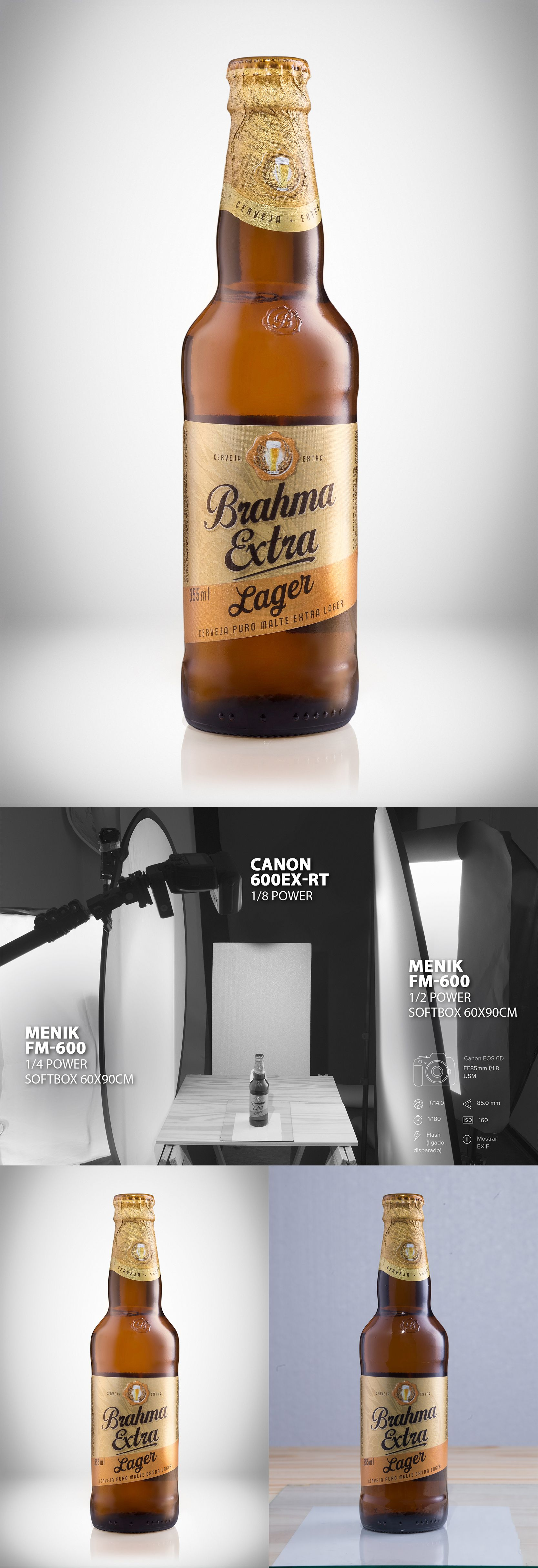 Produktfotografie Beleuchtung 1º Test Beer Setup Light Setup Light Setuplight Still Product