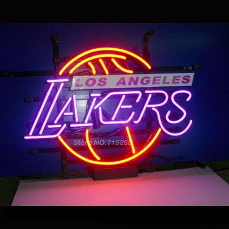 Los Angeles Lakers Basketball Neon Bulbs Sign 17x14