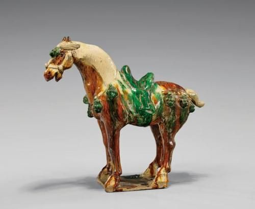 TANG-DYNASTY-SANCAI-GLAZED-POTTERY-HORSE-Lot-145