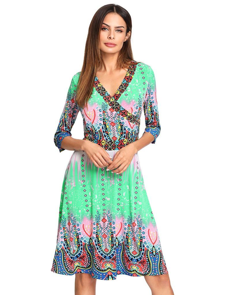 Milumia Women S Bohemian 3 4 Sleeve Faux Wrap Maxi Dress Shop2online Best Woman S Fashion Products Designed To Provide Fashion Womens Dresses Maxi Wrap Dress [ 1024 x 788 Pixel ]