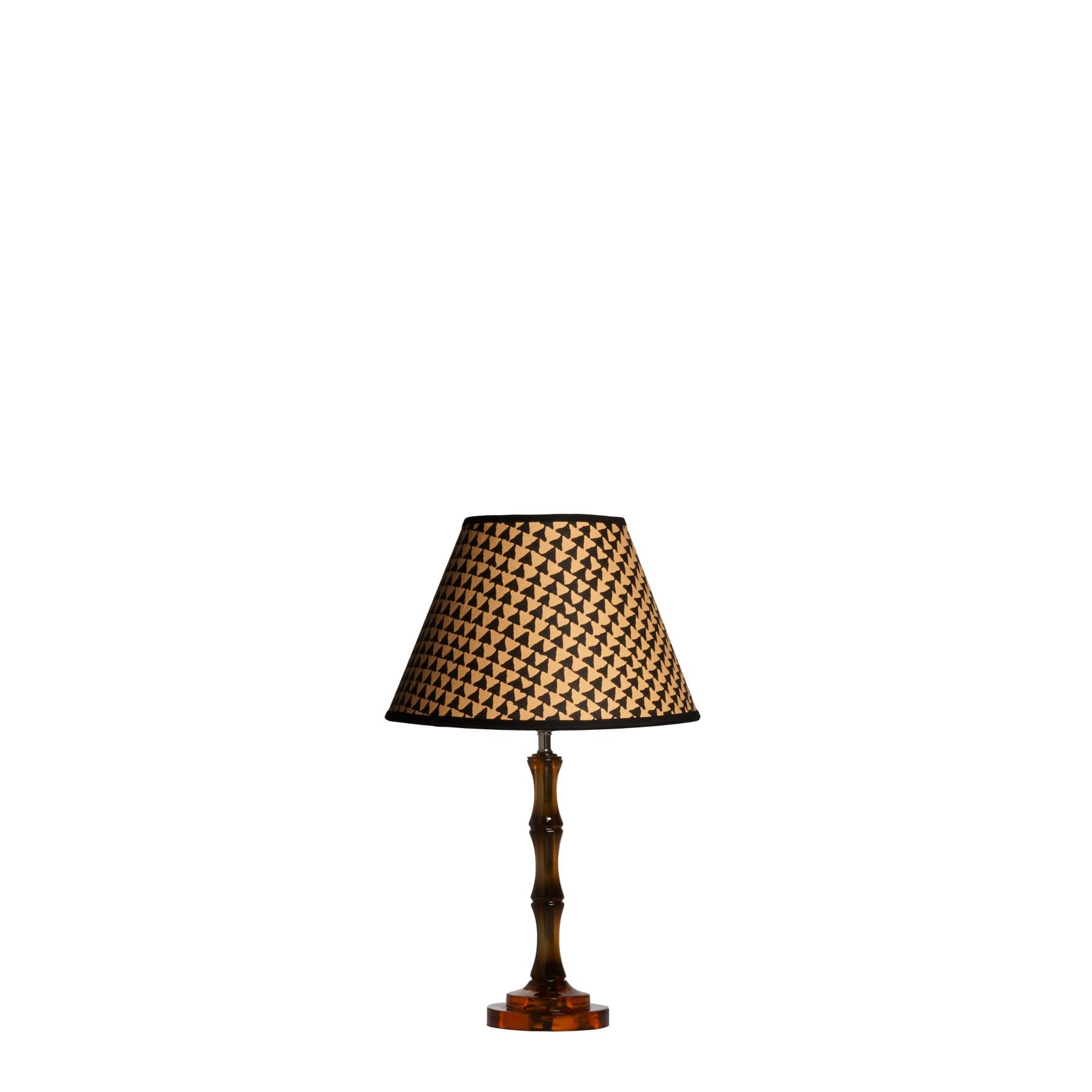 Bamboo Table Lamp In Amber Polished Resin Table Lamp Bamboo