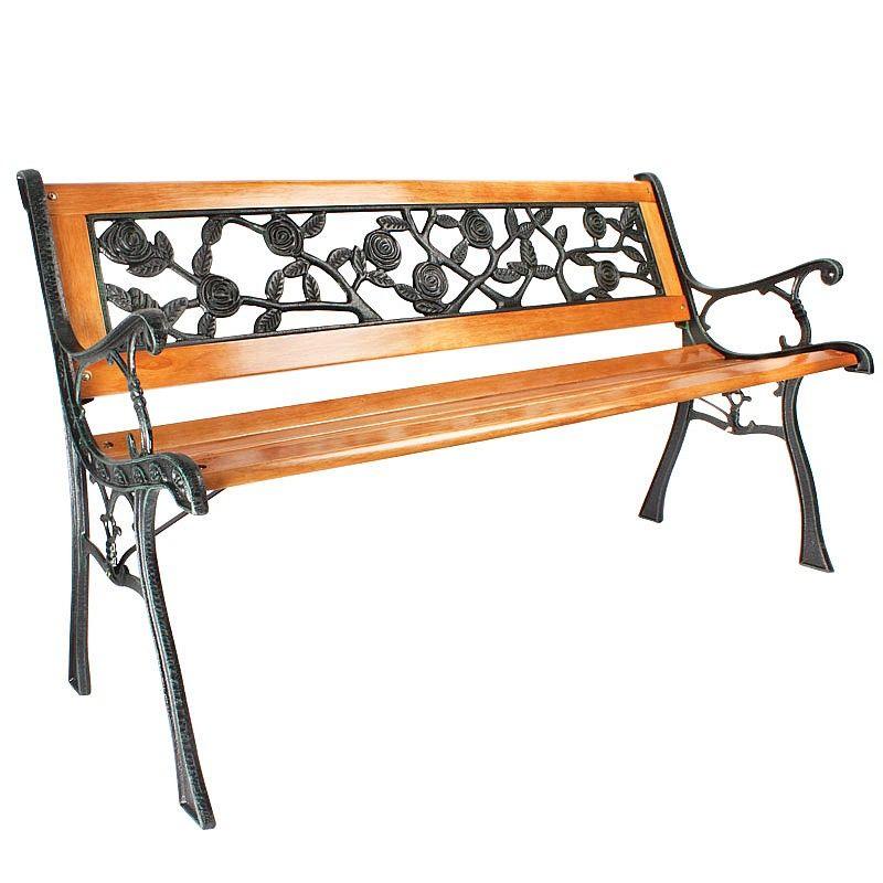 Brilliant Verdigris And Wood Garden Bench Home Garden Awning Uwap Interior Chair Design Uwaporg