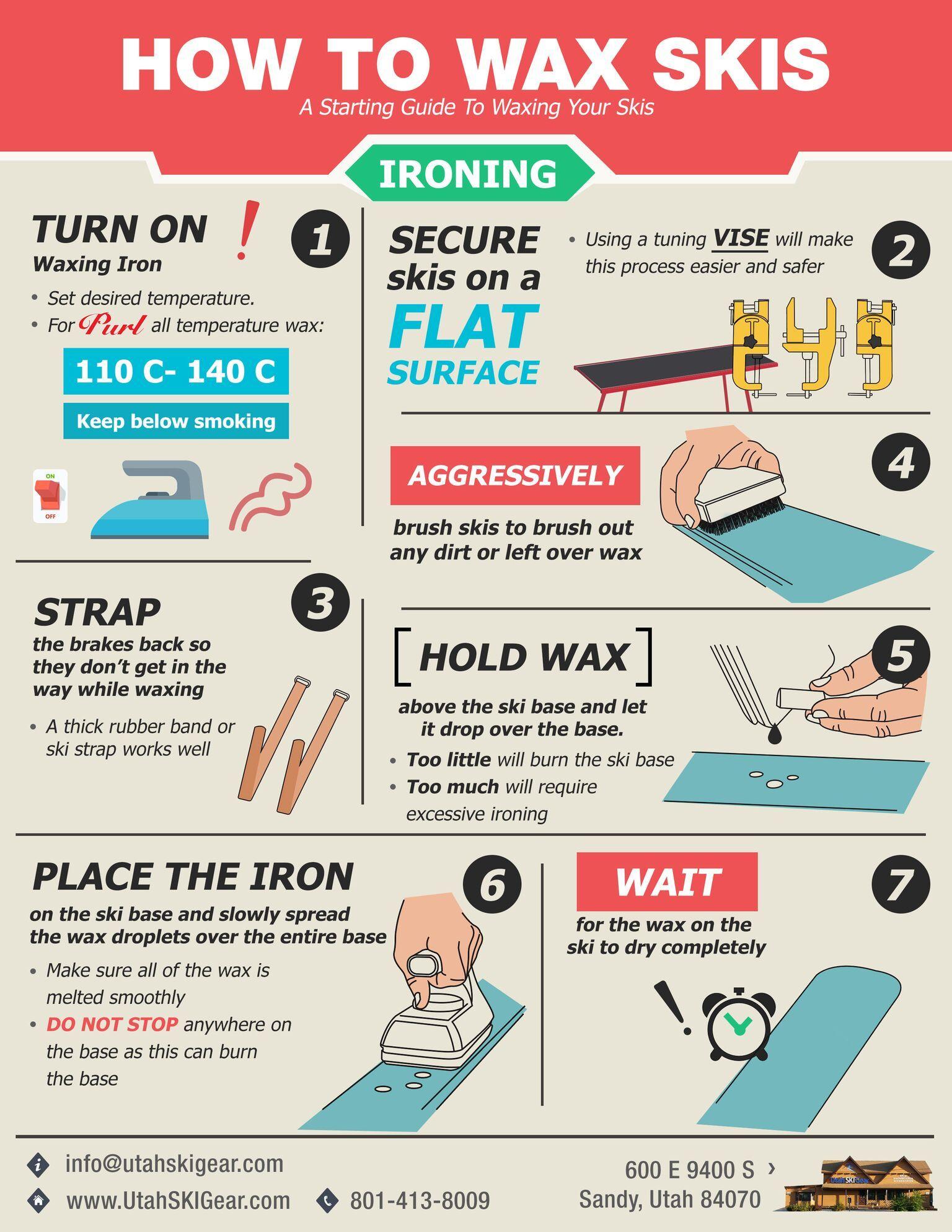 How to wax your skis skiing utah skiing ski gear