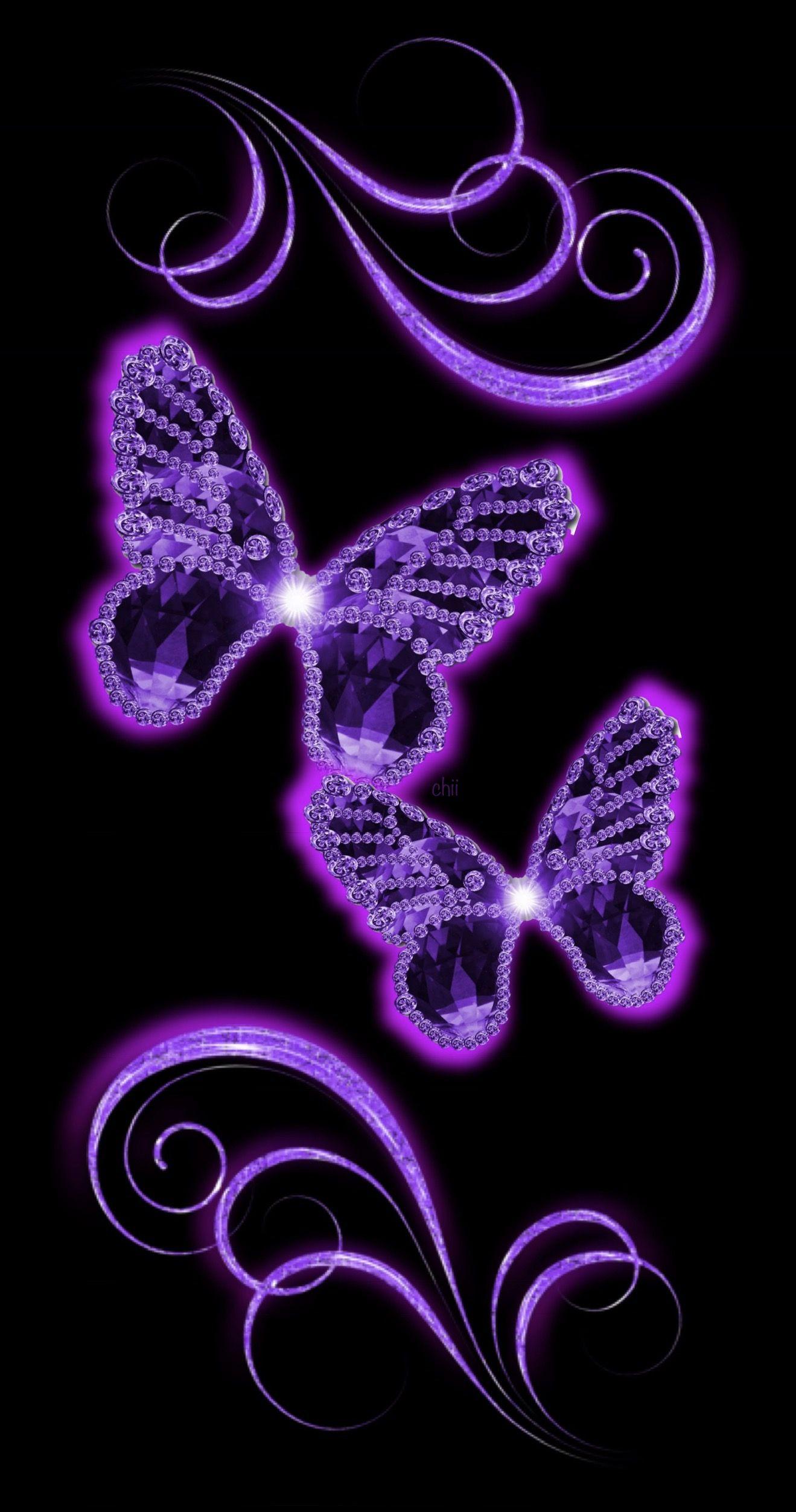Butterfly Wallpaper Aesthetic Purple
