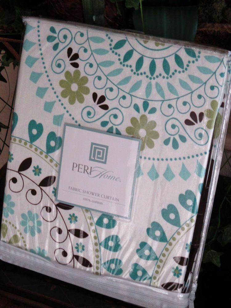 blue and brown shower curtain fabric. PERI Tahiti Tile Aqua Blue Teal  Green Brown Moroccan Shower Curtain