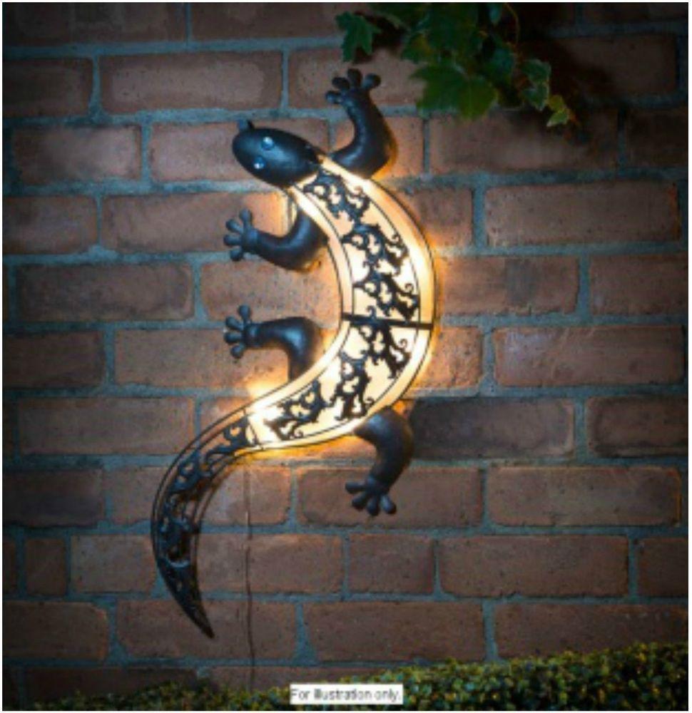 Solar Garden Lights Outdoor Light LED Lizard Yard Flower Sunlight Decor  Wall Art