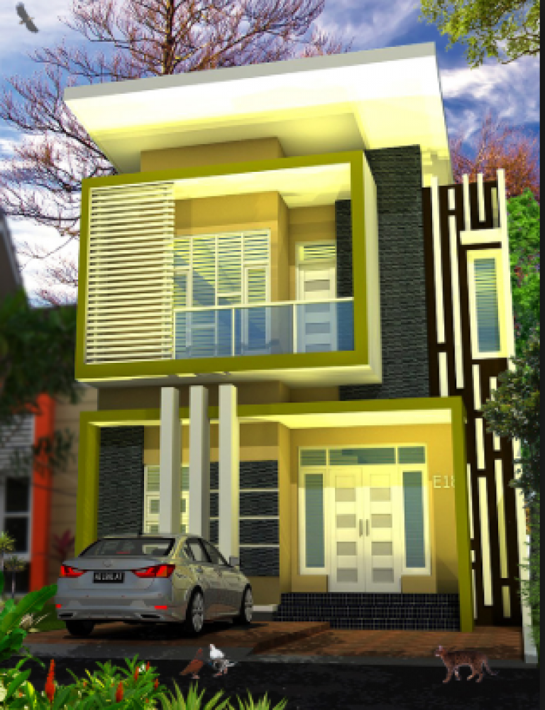 Desain Rumah Minimalis 2 Lantai Type 36 72 | Cek Bahan ...