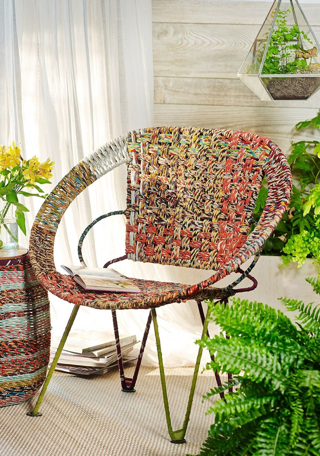 Fair Trade Furniture // Mid Century Modern // Modern Boho // Repurposed Sari