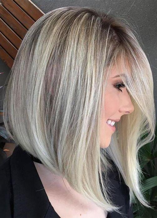 Hair Color Ideas For Asymmetrical Hairstyles For Thin Hair