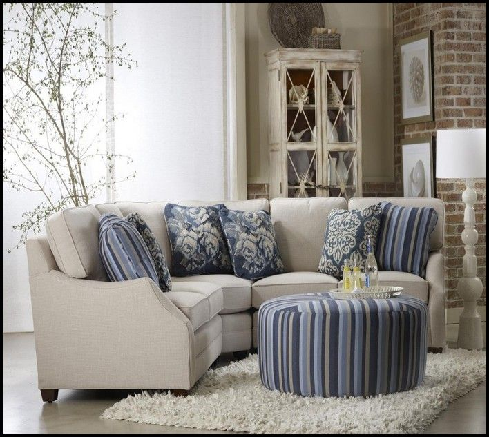 Small Scale Sectional Sofa | Small living room furniture, Small