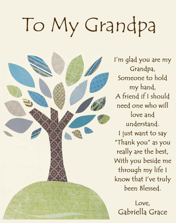 Grandfather Gift Personalized For Grandpa By BoutiqueBlu