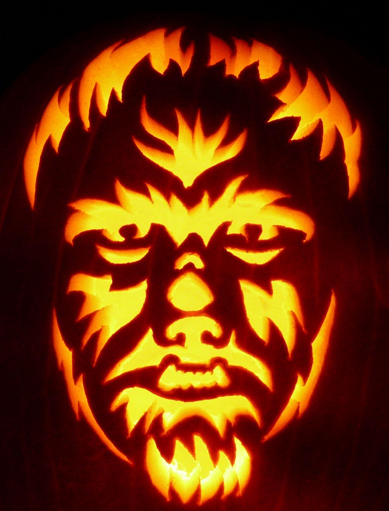 Wolf Pumpkin Carving Patterns Custom Ideas