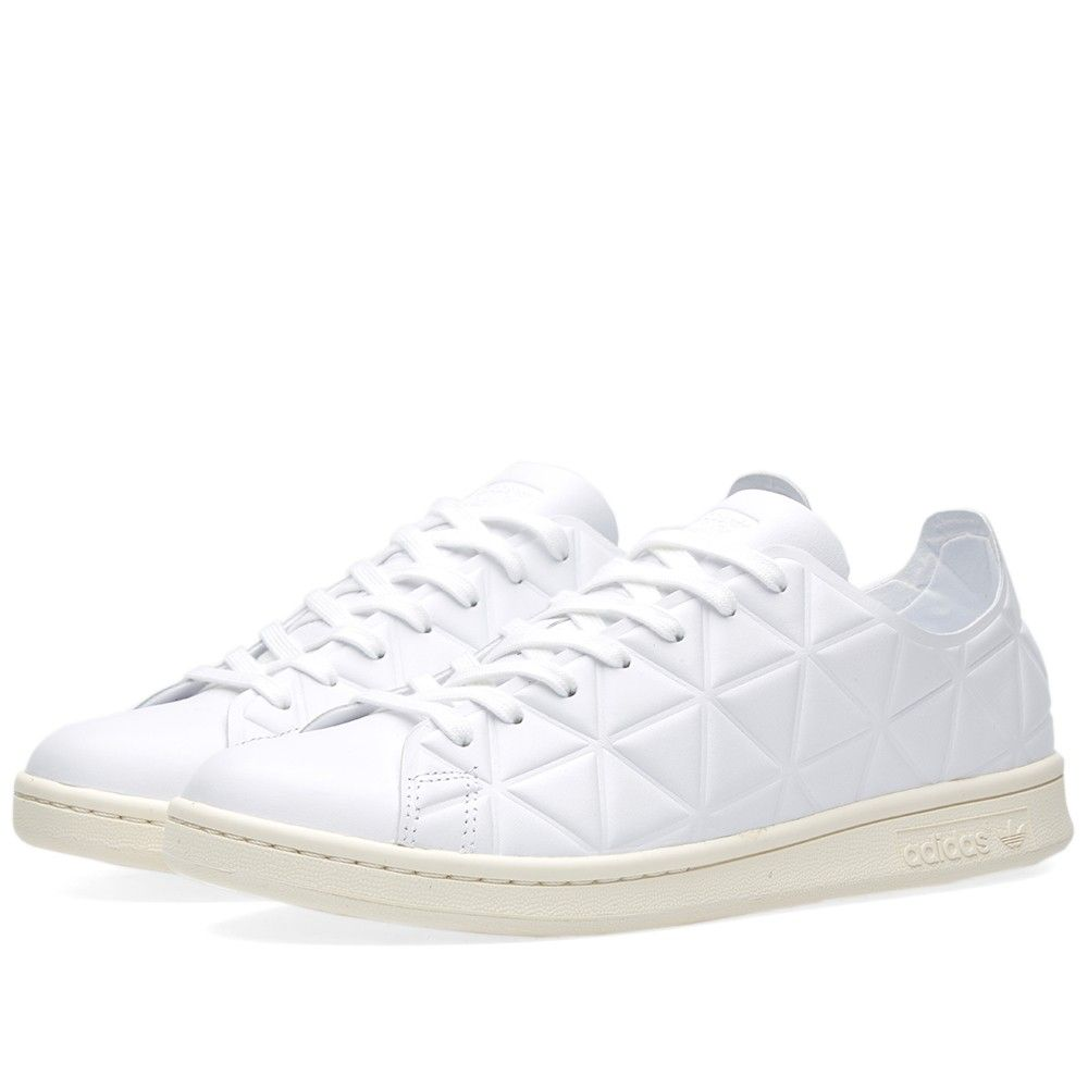 adidas update a court classic with a textured triangle pattern upper. The iconic Stan Smith
