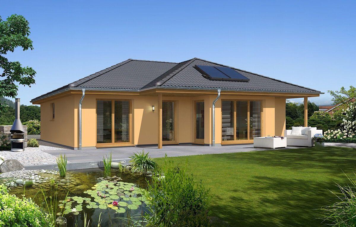 Bungalow Haus mediterran modern mit Walmdach Architektur