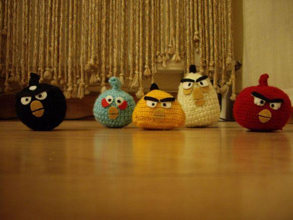 Crochet and felt angry birds