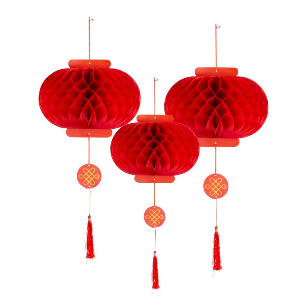 Chinese New Year Hanging Paper Lanterns Red Chinese New Year