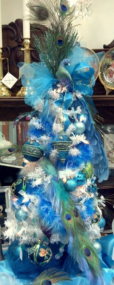 peacock Christmas tree Gracious Seasons Pinterest Peacock