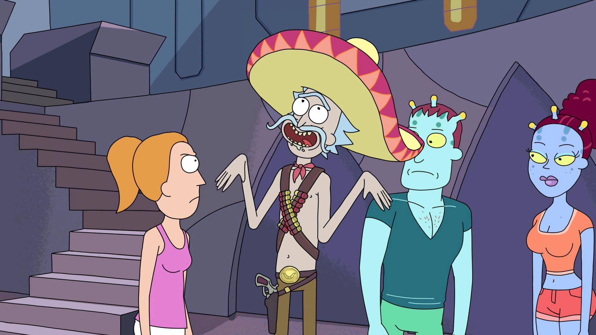 Mexican Rick Rick And Morty Cartoon Rick