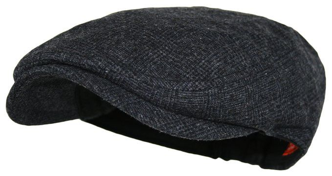 59bc85643bf Men s Herringbone Wool Tweed Newsboy Ivy Cabbie Driving Hat (One Size