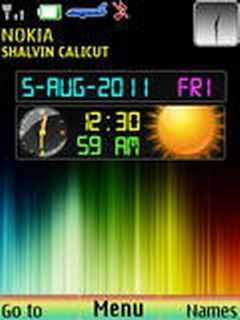 Download free Colorful Dual Clock Mobile Theme Nokia mobile theme