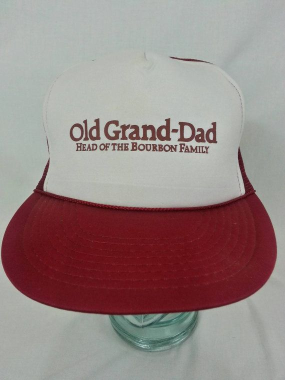 ce85a46a80cee Vintage 90s Old Grandad Bourbon Whiskey Snapback Hat