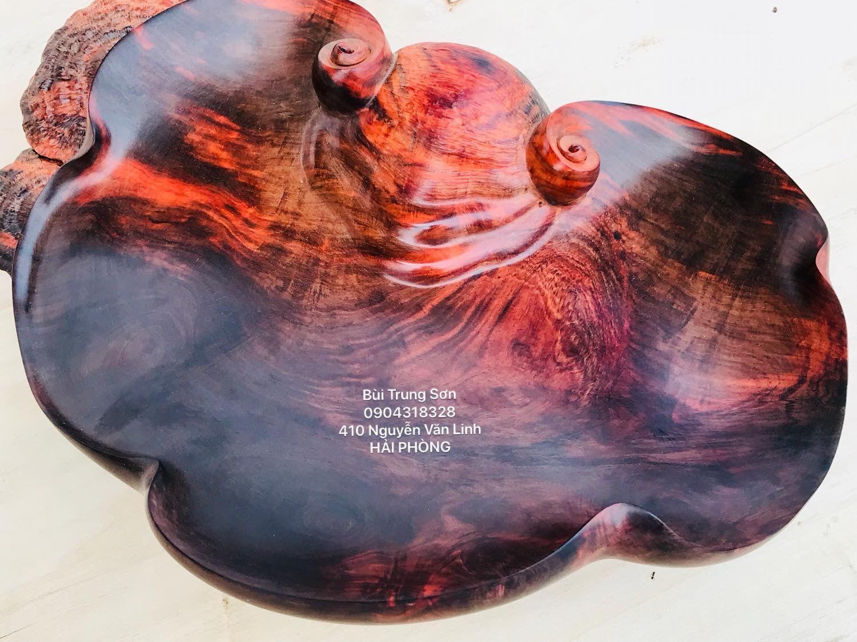 Tray for fruit red wood carved | Mỹ thuật, Điêu khắc, Nghệ thuật
