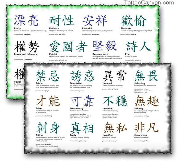 tattoo designs symbols Kanji