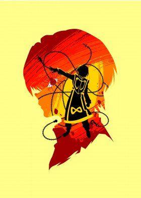 Scarlet Eyes x Phantom Anime & Manga Poster Print | metal posters - Displate | Displate thumbnail