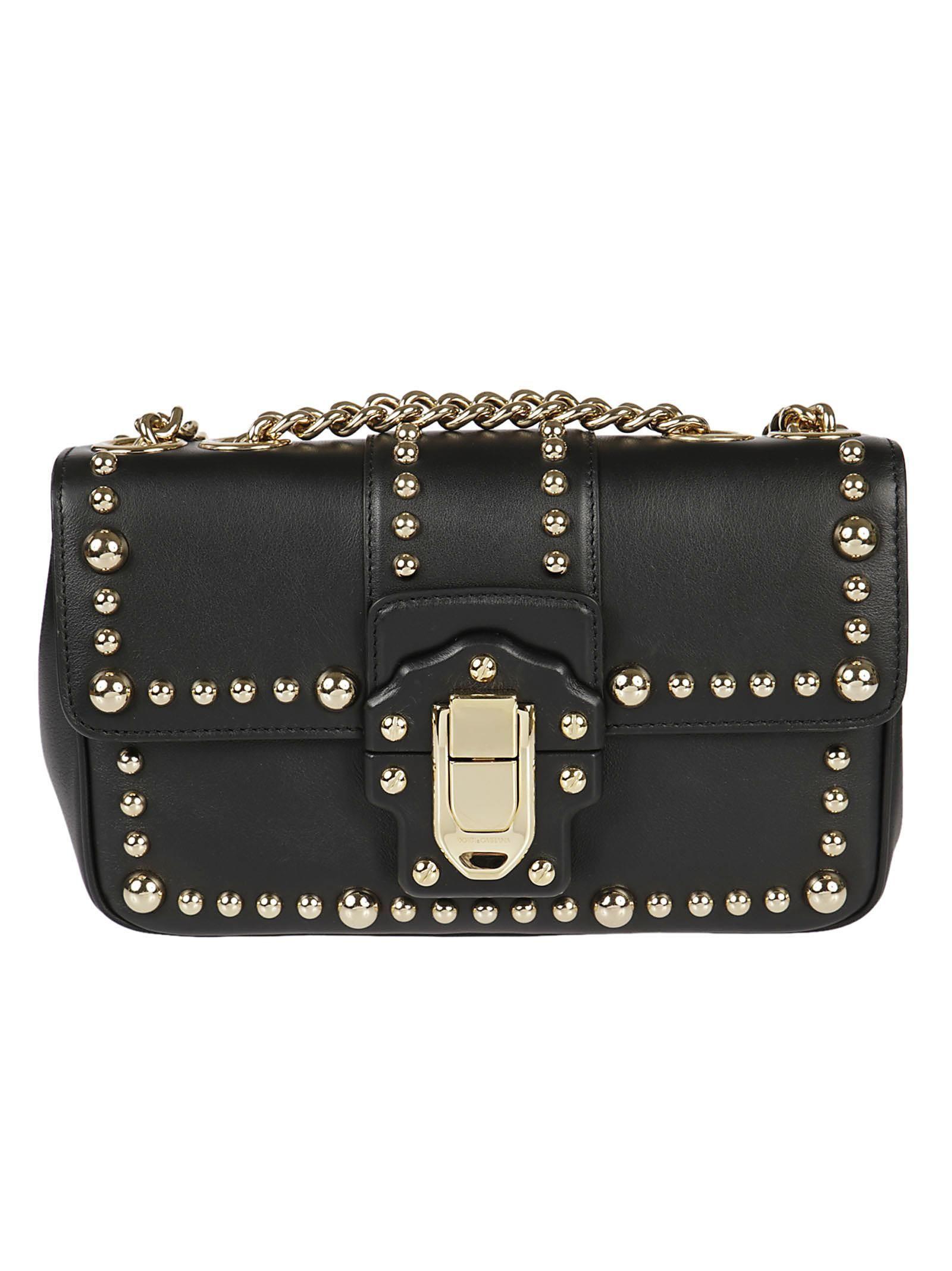 DOLCE   GABBANA DOLCE   GABBANA GOLD STUD SHOULDER BAG.  dolcegabbana  bags   shoulder bags  leather   76ac7c51c3da2