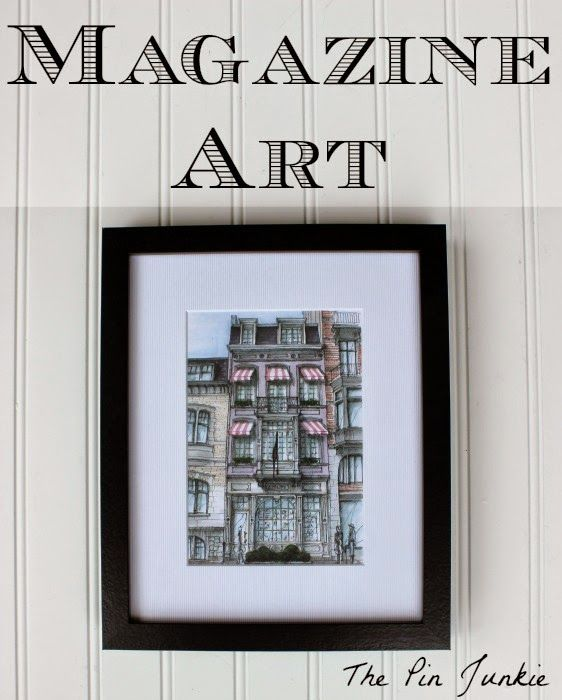 Framed magazine art diy wall decordiy