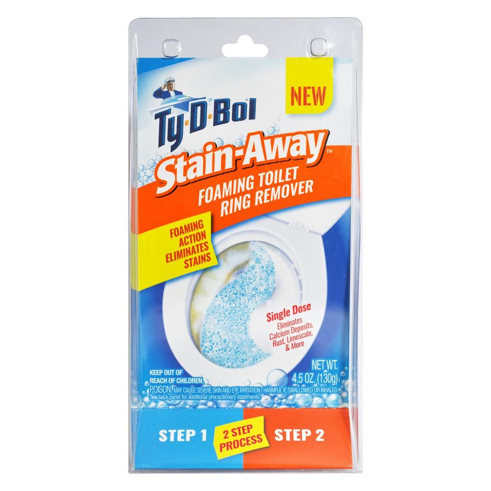 Ty D Bol 4 5 Oz Stain Away Foaming Toilet Stain Remover 3 Pack 411000 3 The Home Depot Toilet Ring Remover Toilet Stain Remover Toilet Stains