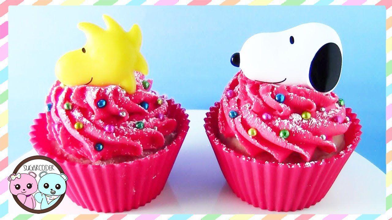 SNOOPY CUPCAKES, PEANUT CUPCAKES, SNOOPY CAKE - SUGARCODER - YouTube