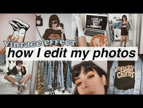 HOW I EDIT MY PHOTOS ???? vintage apps YouTube