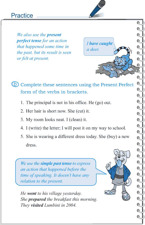 Grade 5 Grammar Lesson 9 Tense simple past and present perfect (6