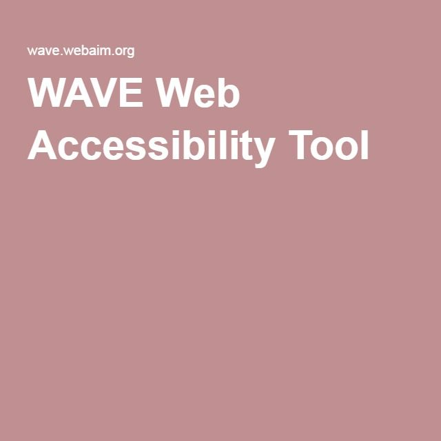 WAVE Web Accessibility Tool | Accessibility | Web